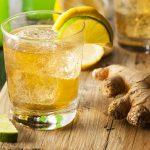 replenishing post-workout drink with ginger, lemon, lime, honey